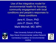 Use of the integrative model for environmental health for focusing ...