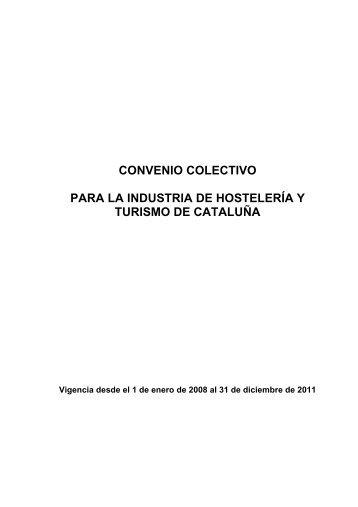 convenio colectivo para la industria de hostelería y ... - Fadiscat
