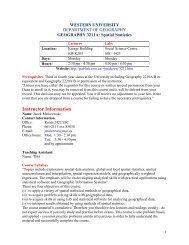 Instructor Information Course Syllabus - Geography, Department of ...