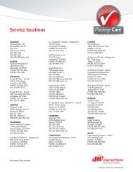 Service locations - Ingersoll Rand