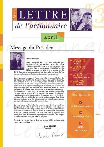 Lire la lettre - April