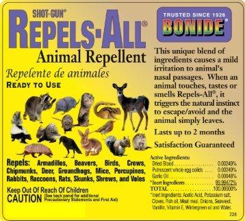 SHOTGUN REPELS-ALL Animal Repellent - Bonide