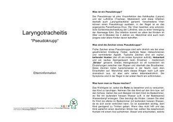 Laryngotracheitis - Schweizerische Gesellschaft für Pädiatrische ...
