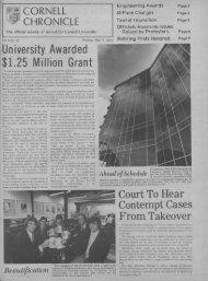 University Awarded $1.25 Million Grant - ecommons@cornell ...