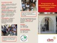 Programme de Réadaptation à Base Communautaire (RBC) - CBM