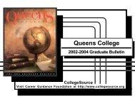 2002-2004 Graduate Bulletin - Queens College - CUNY