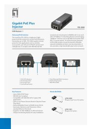 Gigabit PoE Plus Injector - LevelOne - Quality networking products ...