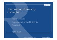 The Taxation of Property Ownership - Henley Business School