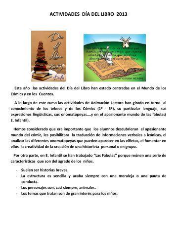 ACTIVIDADES DÍA DEL LIBRO 2013 - CEIP MARQUÉS DEL ARCO