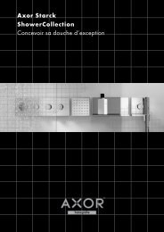 Aide à la conception Axor Starck ShowerCollection - Hansgrohe