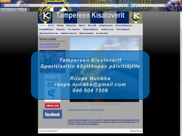 Dia 1 - Tampereen Kisatoverit