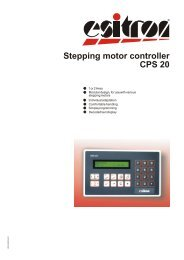 Stepping motor controller CPS 20 - esitron-electronic GmbH