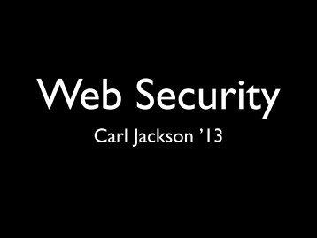 Carl Jackson '13
