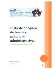 Lista de chequeo de buenas prácticas administrativas