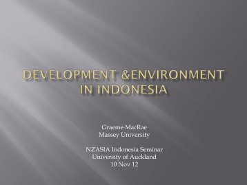 Development & Environment in Indonesia