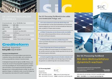 Flyer zum SiC-Processing-TechBond