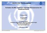 Vorhaben KLIWA- bisherige regionale Klimaszenarien für ...