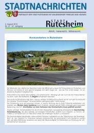 Offene Kinder- und Jugendarbeit - Rutesheim