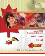 CBDC NORTIP Development Corporation ANNUAL REPORT JUNE ...