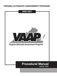 VAAP Manual 06 - Washington County Public Schools
