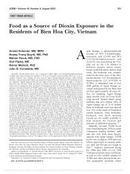 Food as a Source of Dioxin Exposure in the Residents of Bien Hoa ...