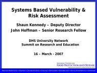 Systems Based Vulnerability & Risk Assessment