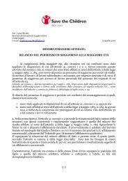 MINORI STRANIERI AFFIDATI: RILASCIO DEL ... - Stranieri in Italia