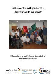 Dokumentation des Workshops (pdf, 2,5 mb) - bezev eV