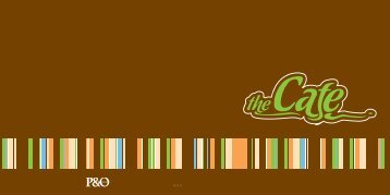 Chocolate Menu