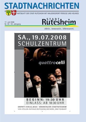 17. Juli 2008 Nr. 29 . 53. Jahrgang - Rutesheim