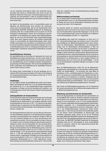emissionsprospekt 2 0 0 1 / 2 0 0 2 - WMD Brokerchannel