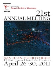 2011 Program - Society for the Neural Control of Movement