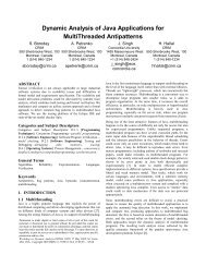 Dynamic Analysis of Java Applications for ... - ResearchGate