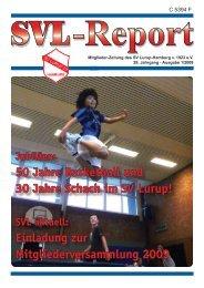 Einladung zur Mitgliederversammlung  2009 - SV Lurup