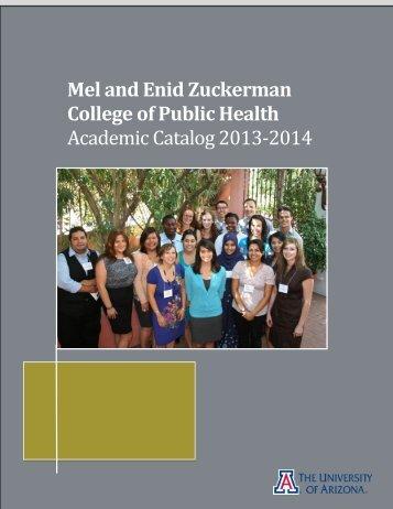 Academic Catalog - Mel and Enid Zuckerman Arizona College of ...
