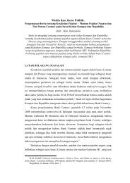 Media dan Aktor Politik: - Blog Sivitas STIKOM Surabaya