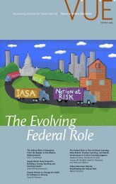The Evolving Federal Role - Annenberg Institute for School Reform