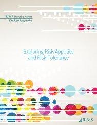Exploring Risk Appetite and Risk Tolerance - RIMS