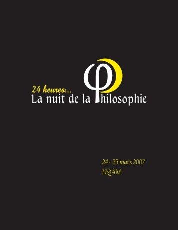 Nuit de la Philosophie - PHILO.MTL