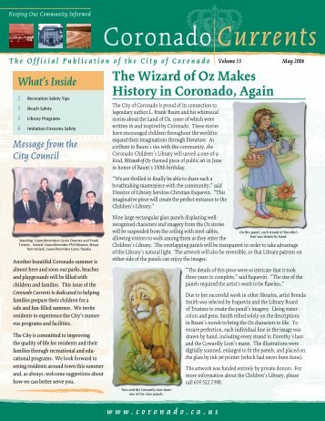 The Wizard of Oz Makes History in Coronado ... - City of Coronado