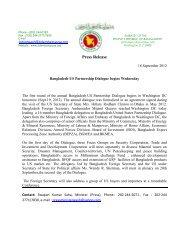 September 18, 2012 - The Embassy of Bangladesh in Washington DC