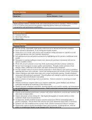 Service Advisor Job Description 2011 - Psndealer.com psndealer