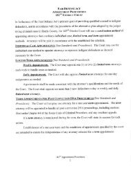 FAIR DEFENSE ACT - Harris County District Courts