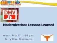 Modernization: Lessons Learned