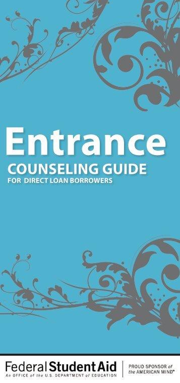 Direct Loan Entrance Guide - Belmont College