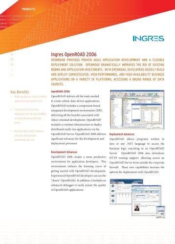 Ingres OpenROAD 2006 - Actian