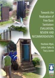 Towards the realization of free basic sanitation - Water Research ...