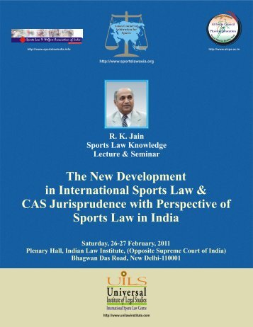 souvenir- inner pages - International Association of Sports Law