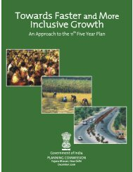 Towards Faster and More Inclusive Growth - of Planning Commission