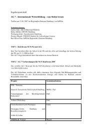 Ergebnisprotokoll Internationale Weiterbildung 090506 - NUN